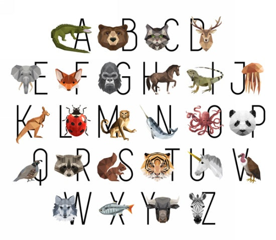 Zoo Keeper Alphabet Panel