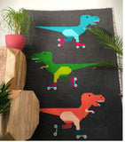 Dinorama - T-Rex on Roller Skates Pattern