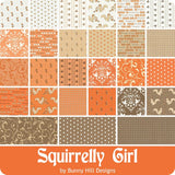 Squirrelly Girl Charm Squares