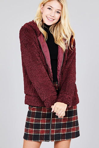 BRING IT BURGANDY JACKET - Hula