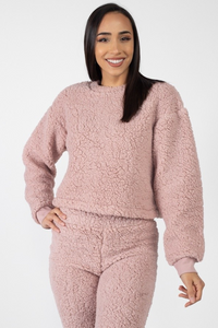 PERFECTLY PINK FUZZY TOP & JOGGERS - Hula