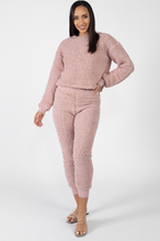 Load image into Gallery viewer, PERFECTLY PINK FUZZY TOP & JOGGERS - Hula