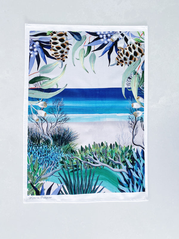 OCEAN VIEWS TEA TOWEL
