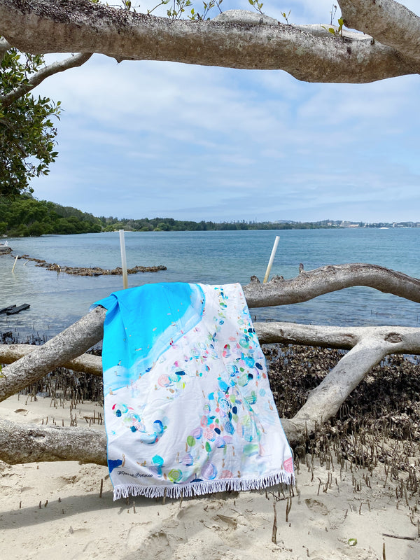 THE SUNBATHERS BEACH TOWEL