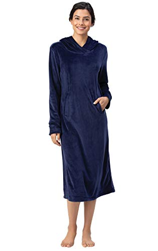 Addison Meadow Womens Sleep Shirts - Women Sleep Shirt, Micro Velvet Lounger