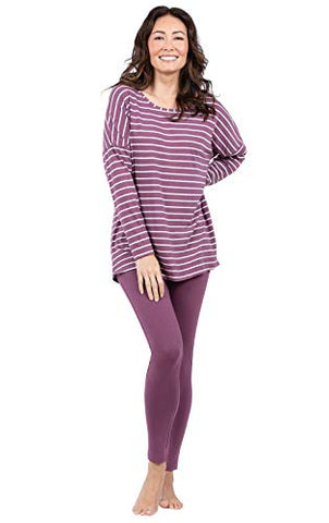 Addison Meadow Long Sleeve Tunic and Leggings Pajamas, Mauve