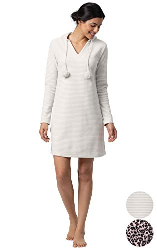 Addison Meadow Sleepshirt for Women - Cozy Fleece Nightgowns for Women, Hooded