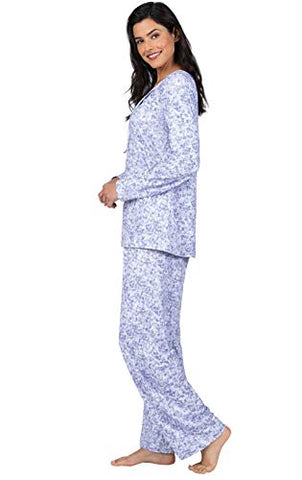 Addison Meadow Ladies Pajamas Soft - Womens Pajamas Set, Tie Neck