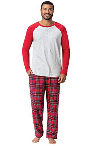 Addison Meadow Pajamas for Men - Mens Pajamas Set, Raglan Top