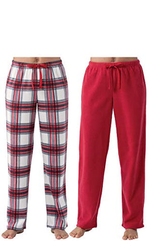 Addison Meadow Womens Pajama Pants - Womens Fleece Pajama Pants, 2-pk.