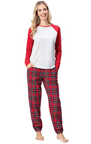 Addison Meadow Christmas Pajamas for Women - Flannel PJs for Women, Raglan Top