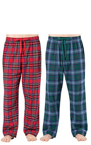 Addison Meadow Flannel Pajamas for Men - Mens Pajama Pants, 2-pk, Red/Green