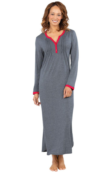Addison Meadow Women Nightgown Soft - Ladies Nightgowns Long Length