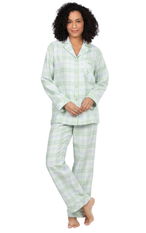 Addison Meadow Flannel Pajamas Women - Women Flannel Pajamas, Boyfriend, Plaid
