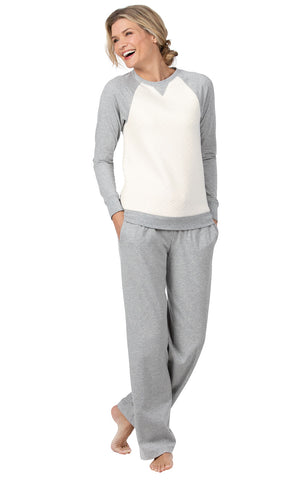 Addison Meadow Lounge Wear Women Sets - Warm Pajamas for Women, Quilted