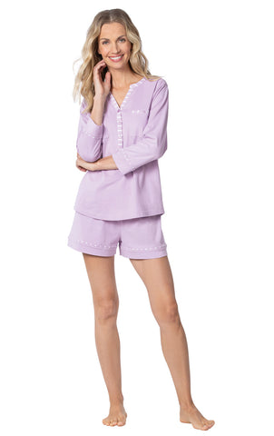 Addison Meadow Pajama Shorts for Women - Soft Cotton Womens PJs