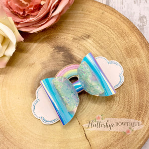 Rainbow Topper Hair Clips, Colour Change bow