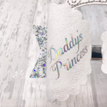 Daddy's Princess Hair Bow, Mummy's Princess Crown - Flutterbye Bowtique
