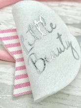 Little Beauty Candy Stripe Bow, Sleepy Eyes Bow - Flutterbye Bowtique