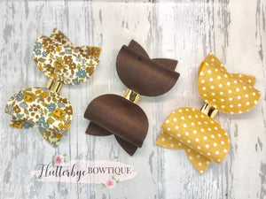 Floral Set of 3 Bows - Flutterbye Bowtique