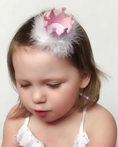 Mini Glitter Crown, Cake Smash Prop - Flutterbye Bowtique