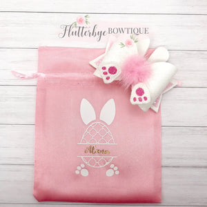 Cute Bunny Tail Bow - Flutterbye Bowtique