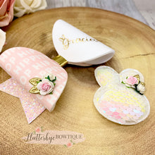 Personalised Bunny Set Hair Bow, Hippity Hop Bow - Flutterbye Bowtique