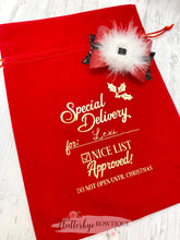 Personalised Nice List Gift Bag - Flutterbye Bowtique
