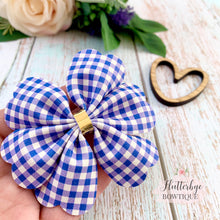 School Gingham Rosy Posy Hair Bow