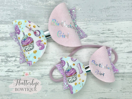 Cupcake Birthday Bow - Flutterbye Bowtique