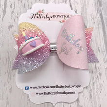 Birthday Hair Bows, Birthday Cake Hair Bow - Flutterbye Bowtique