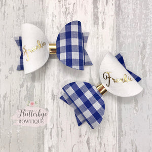 Fiver Friday Personalised Bow Sets - Flutterbye Bowtique