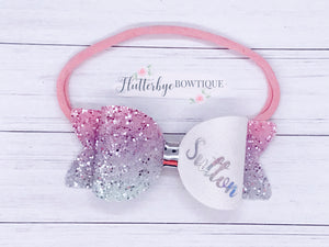Small Personalised Hair Bow, Personalised School Bows