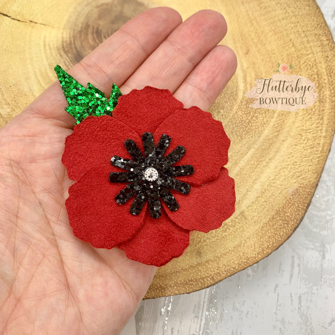 Poppy Remembrance Hair clip, Lest we forget broach