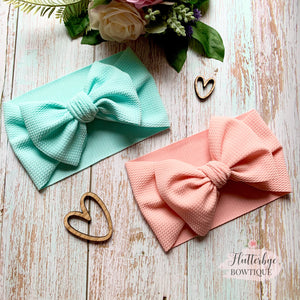 Soft Bow head wrap, stretchy baby headband