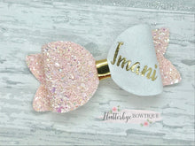 Large Personalised Hair Bow, Personalised School Bows - Flutterbye Bowtique