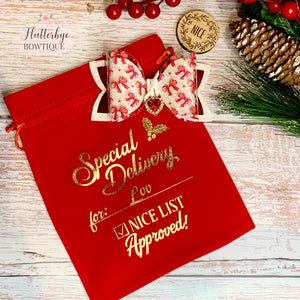 Personalised Nice List Gift Bag