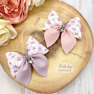 Pretty Unicorn Party Pinch Hair Bow - Flutterbye Bowtique