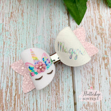 Personalised Pastel Unicorn Hair Bow