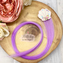Shaker Shell Hair Clips, Coloured Hair Extension - Flutterbye Bowtique