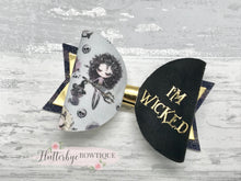 Wicked Hair Bow, Halloween Bow - Flutterbye Bowtique