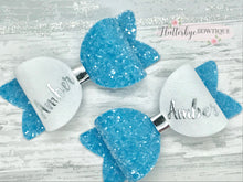 Small Personalised Hair Bow, Personalised School Bows - Flutterbye Bowtique