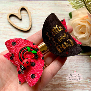 Little Love Lady Bug Hair Bow, Ladybird Bow