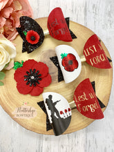 Poppy Remembrance Hair Bow, Lest we forget bow