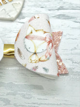 Boho Beauty Fox Bow, Peach Glitter Bow - Flutterbye Bowtique