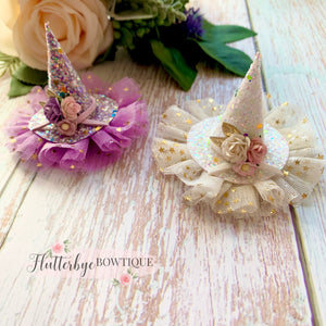 Pastel Mini Witches Hat, Halloween Clip