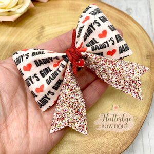 Daddy's Girl Charm Hair Bow - Flutterbye Bowtique