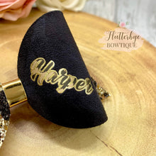 Personalised Leopard Glitter Hair Bow - Flutterbye Bowtique