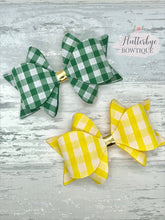 Large School Hair Bows, School Gingham Hair Bow - Flutterbye Bowtique