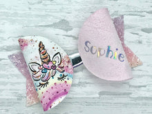 Personalised Rainbow Unicorn Hair Bow - Flutterbye Bowtique